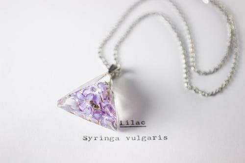 Image of Lilac (Syringa vulgaris) - Prism Necklace #2