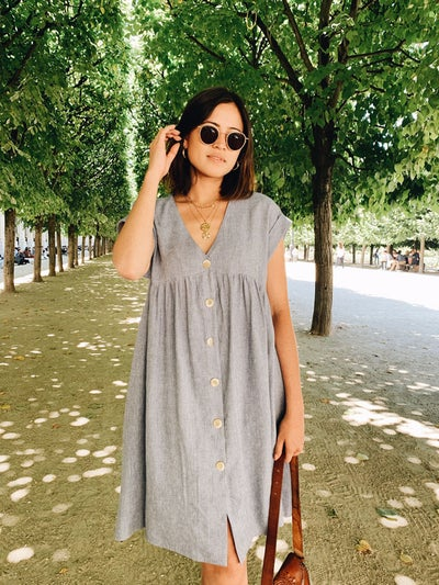 Robe Lola Chambray - Maison Brunet Paris