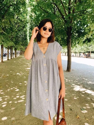 Robe Lola Chambray - Maison Brunet Paris