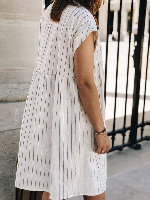 Robe Lola Rayée - Maison Brunet Paris