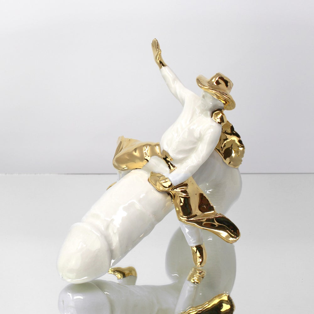 Image of Bareback Cowboy with 22kt Gold