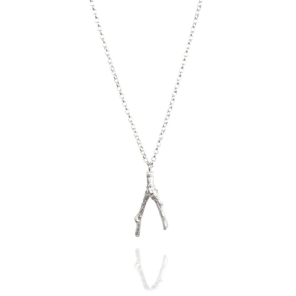 Image of Silver small twig pendant