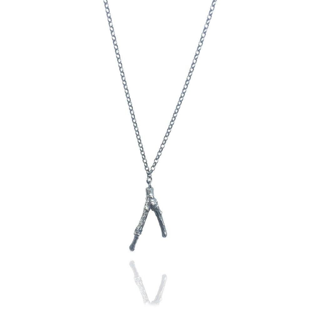 Image of Oxidised small twig pendant