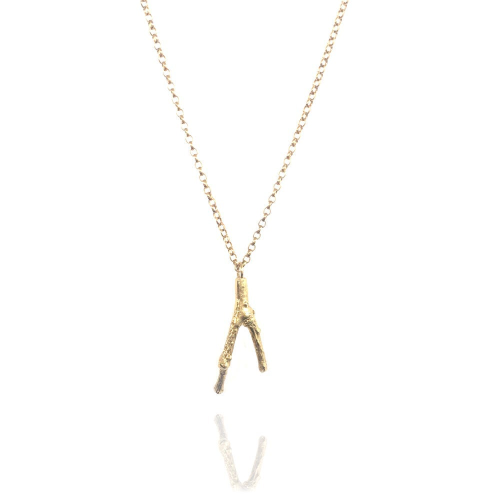 Image of Gold small twig pendant