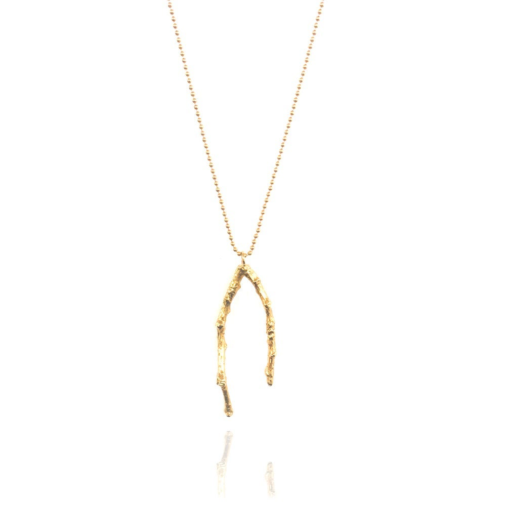 Image of Medium gold twig necklace