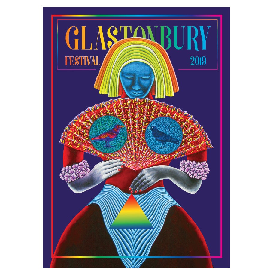 Image of Limited Edition Glastonbury Postcard | And Then The Birds Came 2019