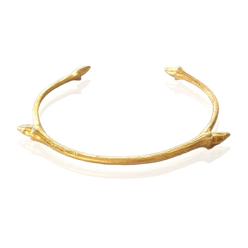 Image of Gold open twig bangle