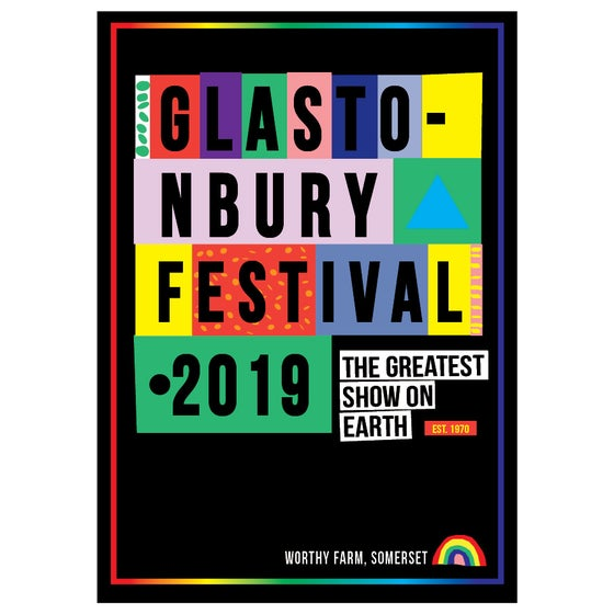 Image of Limited Edition Glastonbury Postcard | Est 1970 | 2019