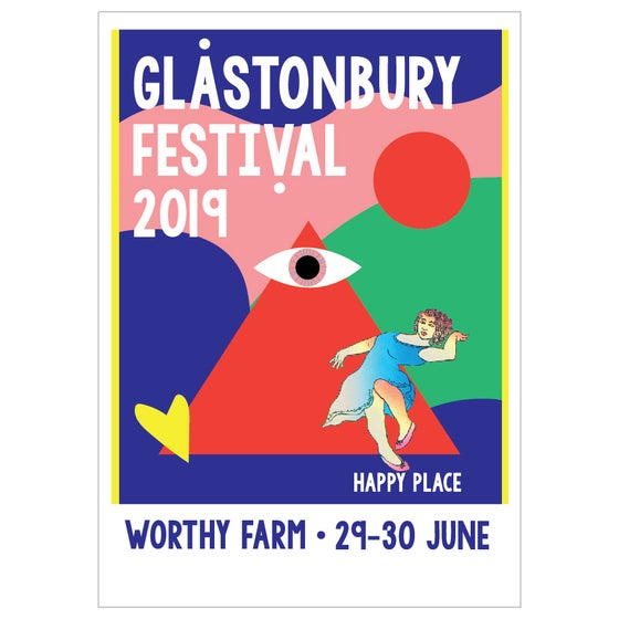 Image of Limited Edition Glastonbury Postcard | Happy Place 2019