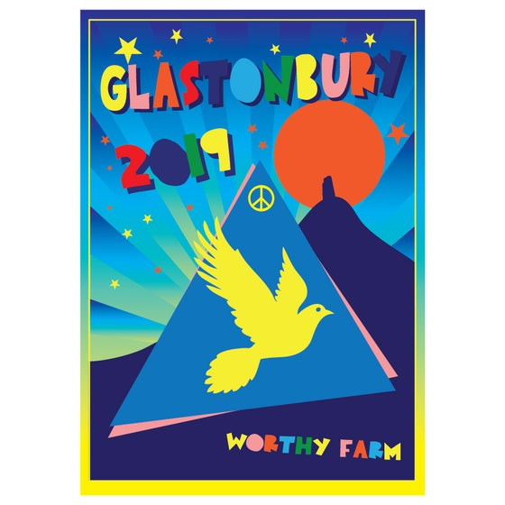 Image of Limited Edition Glastonbury Postcard | Space Tor 2019