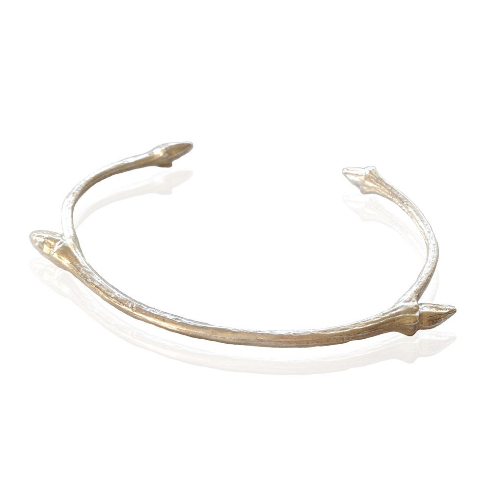 Image of Silver open twig bangle
