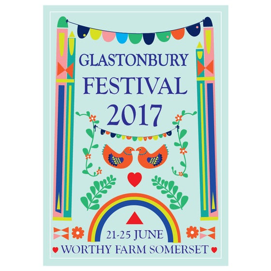 Image of Limited Edition Glastonbury Postcard | Peace Garden 2017