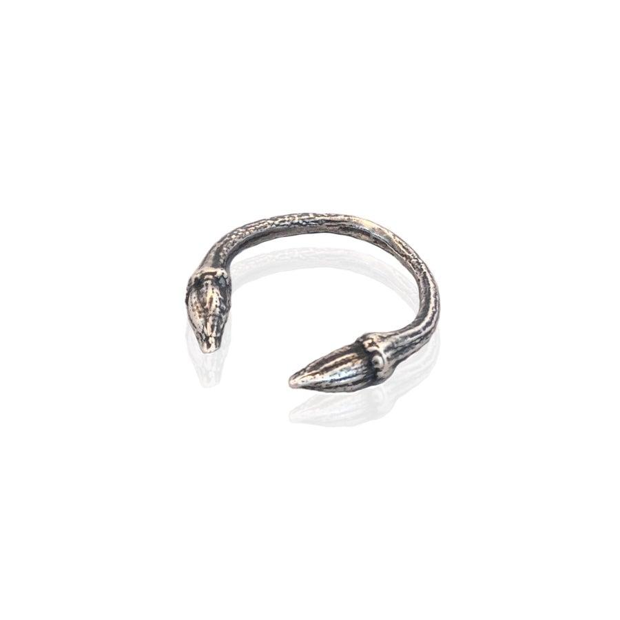 Image of Oxidised open twig ring