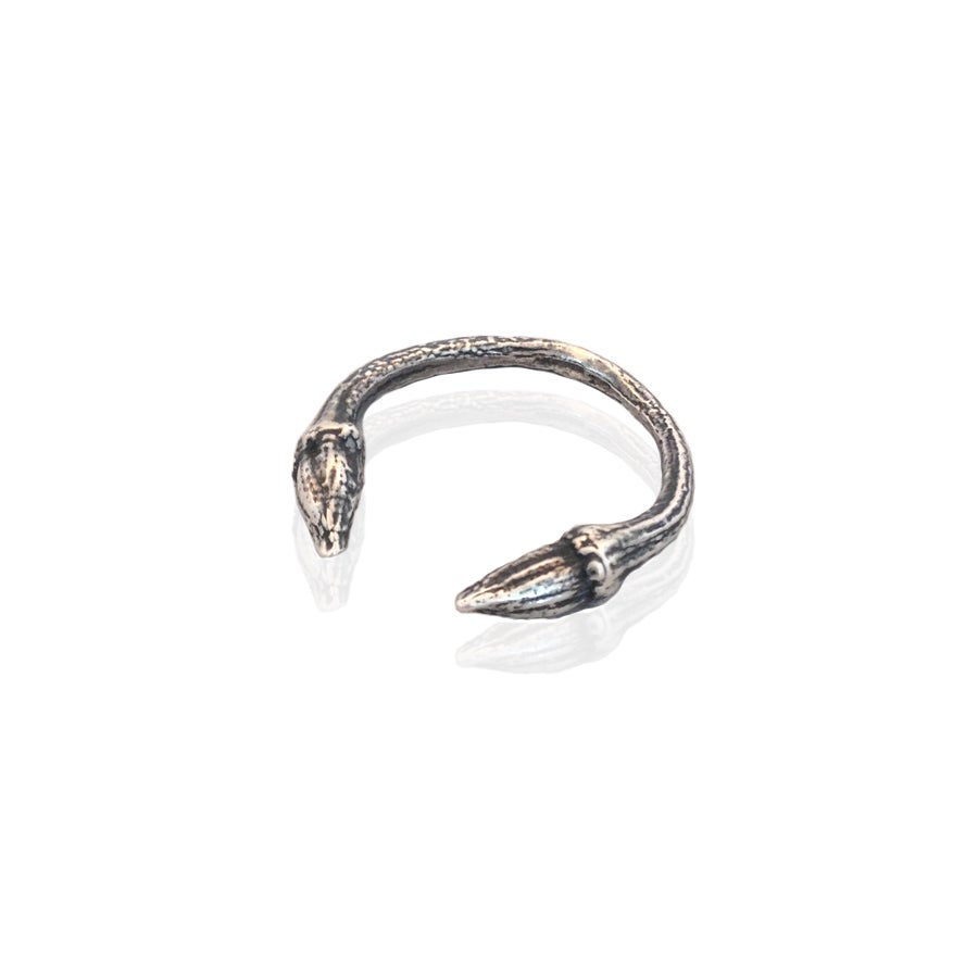 Image of Oxidised open twig ring