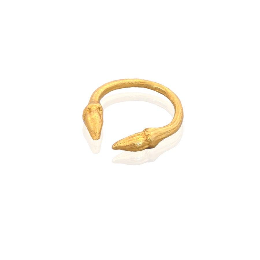 Image of Gold open twig ring