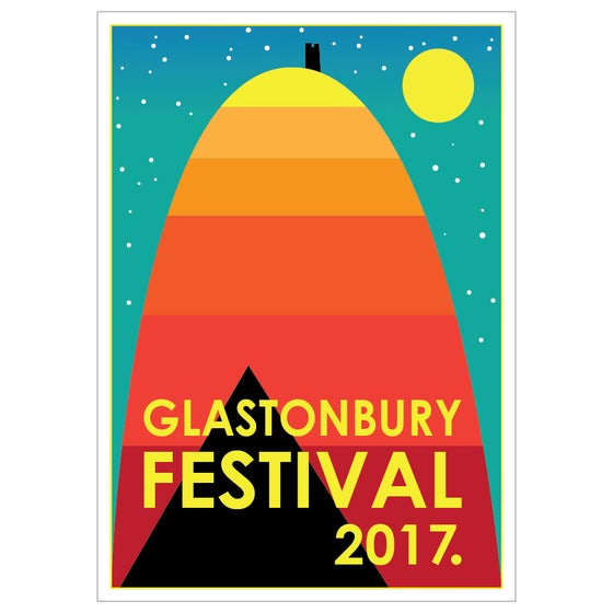 Image of Limited Edition Glastonbury Postcard | Tor 2017