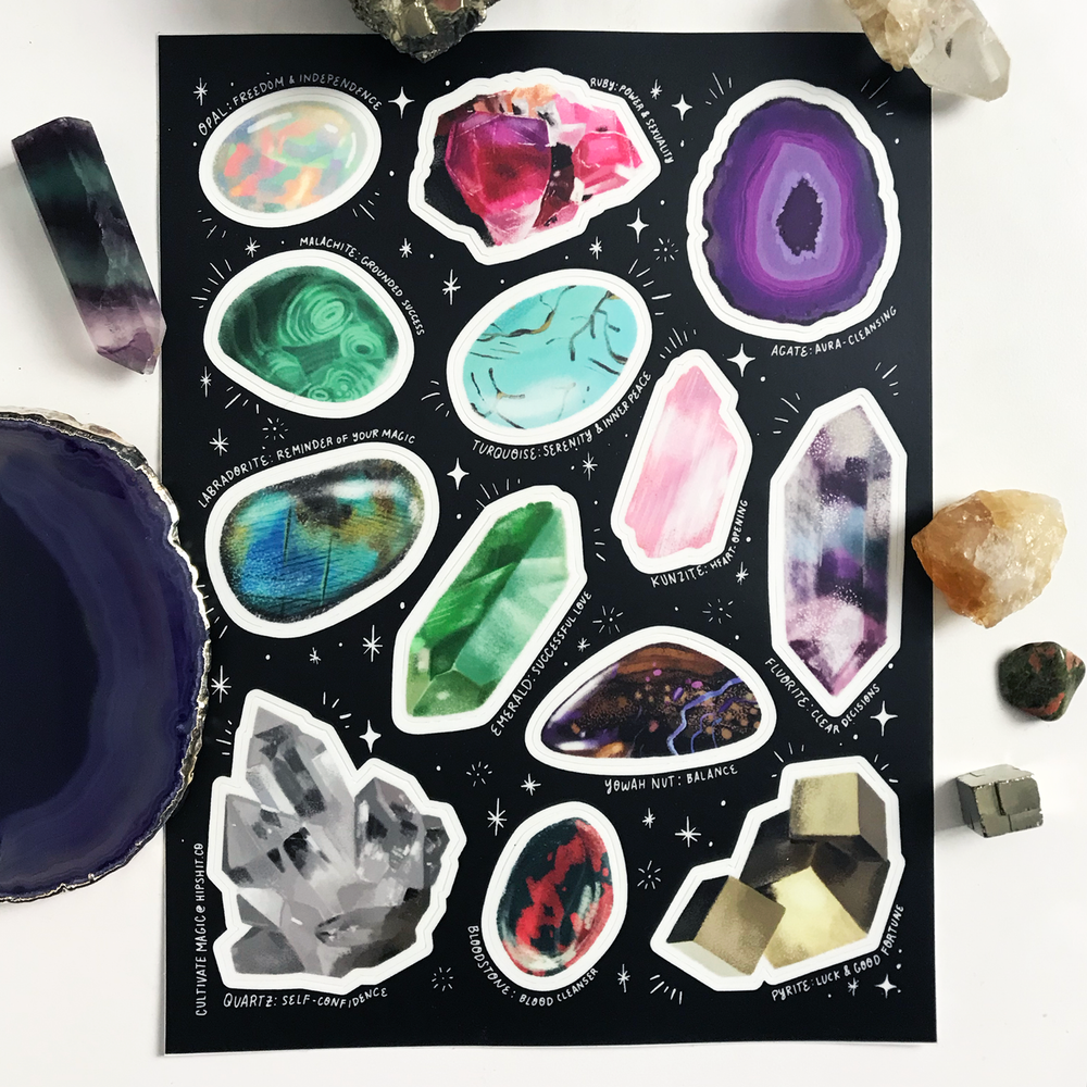 Image of Crystal Sticker Sheet