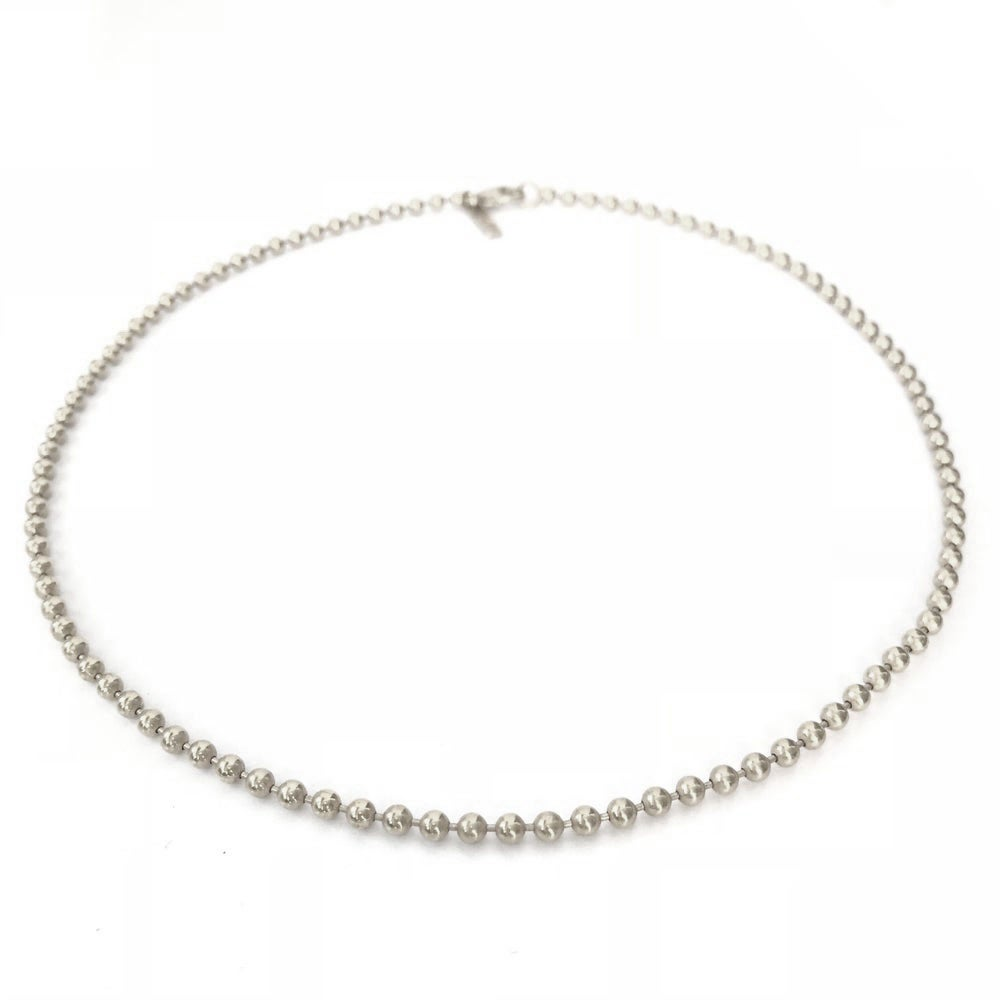 Image of Silver beaded choker