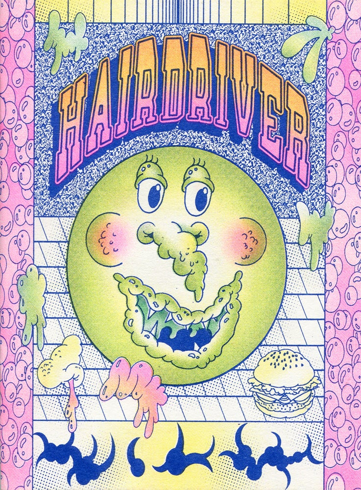 Image of HAIRDRIVER risograph book
