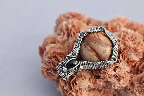 """Image of """"Quiñones"""" Landscape Jasper & Smokey Quartz Amulet Pendant"""