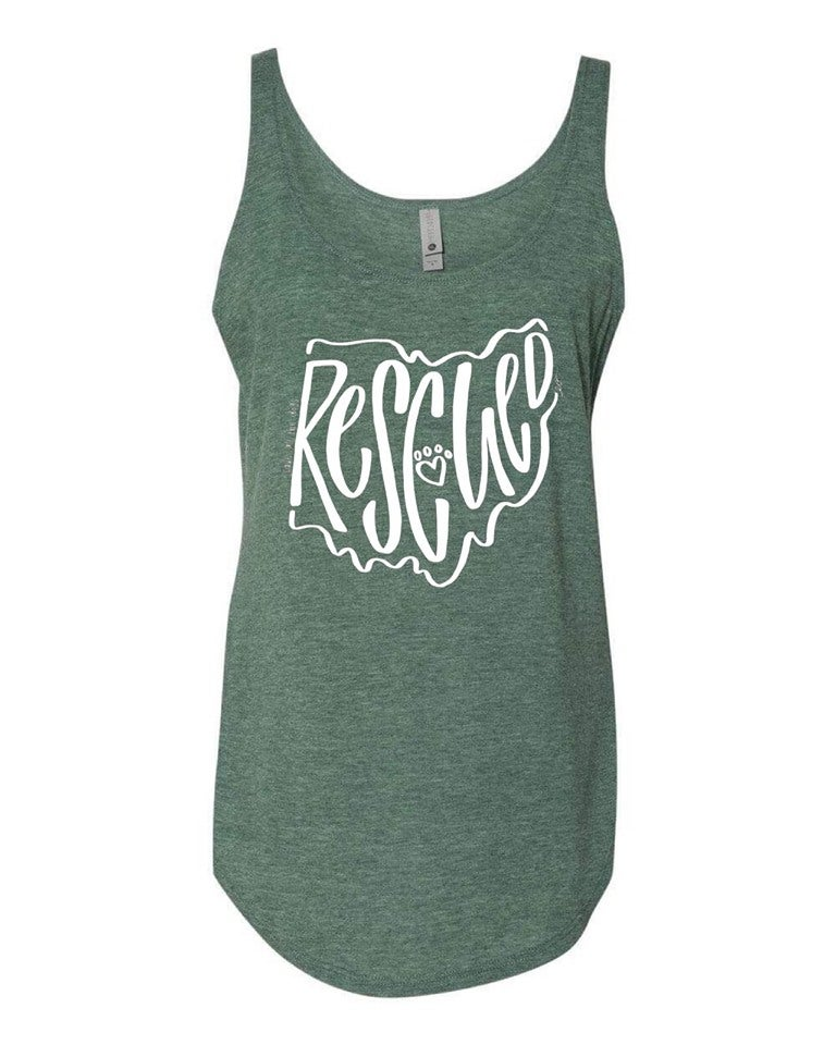 Image of RESCUED tank top (royal pine)
