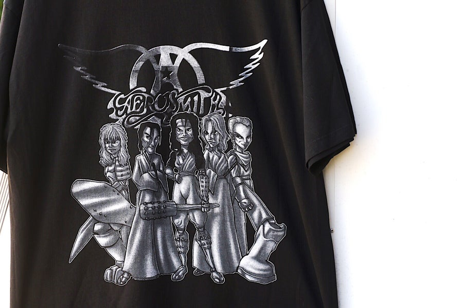"Image of Rare 1999 Vintage Giant ""AEROSMITH- Roar Of The Dragon Tour"" Concert Tee"
