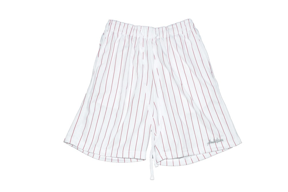Image of Pinstripe Shorts (Red)