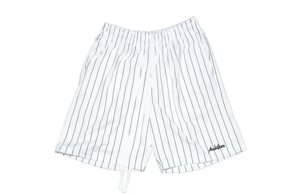 Image of Pinstripe Shorts (Black)