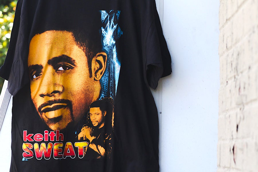 "Image of Rare 1996 Vintage Bay Club ""KEITH SWEAT- Twisted/Nobody"" Rap Tee"