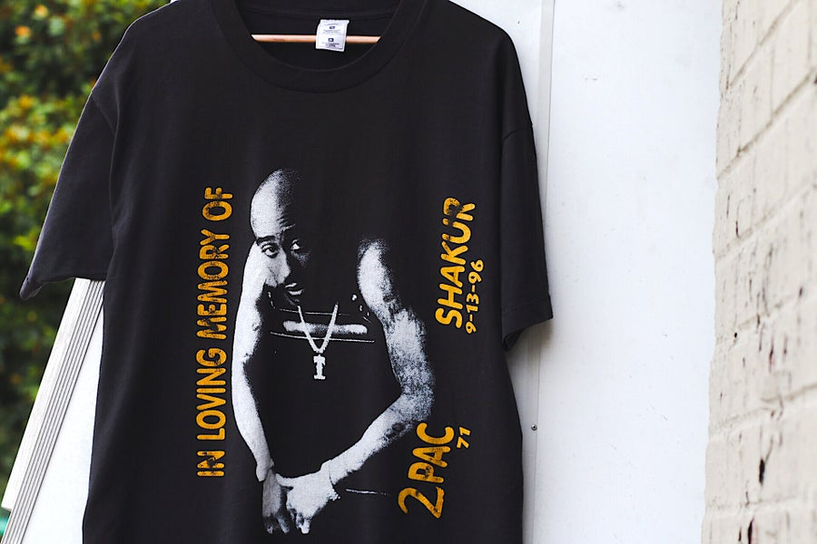 """Image of Rare 1996 Vintage """"2PAC SHAKUR- In Loving Memory Of..."""" Single-Stitched Rap Tee"""