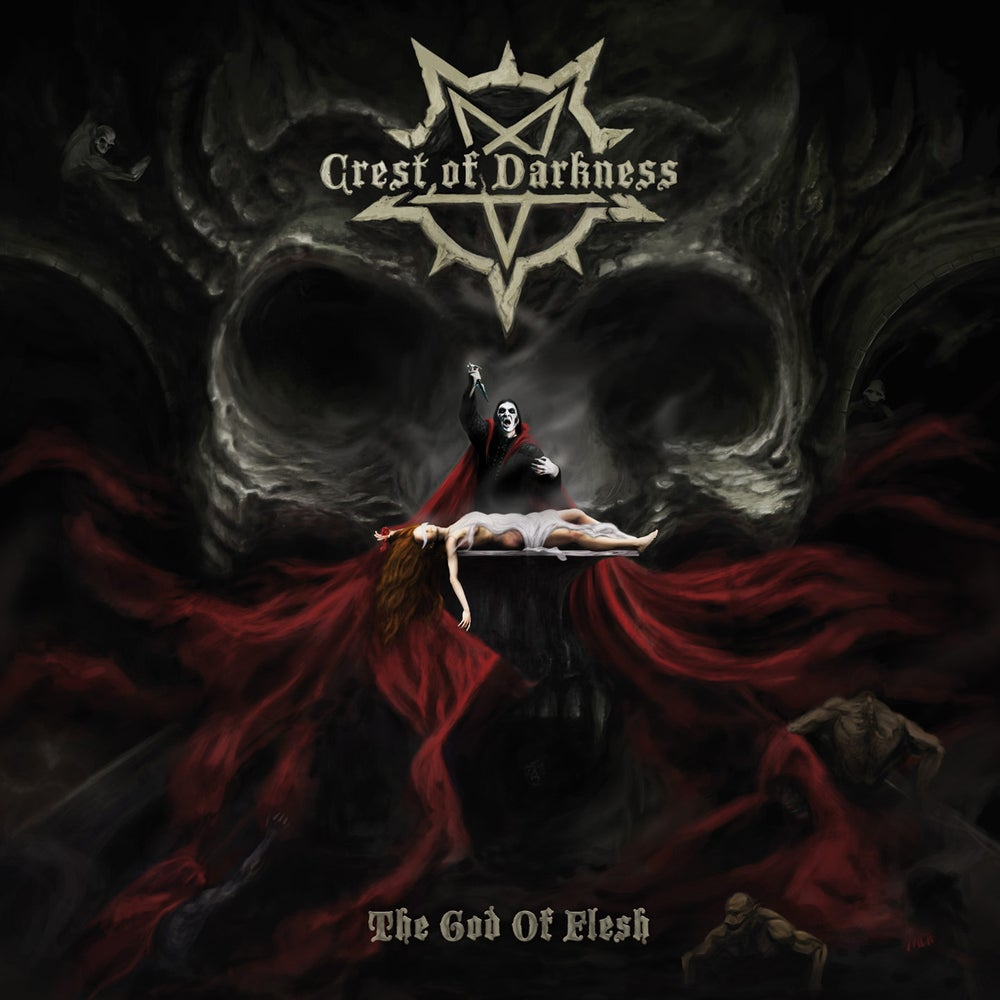 "Image of CREST OF DARKNESS ""The God Of Flesh"" digiCD"