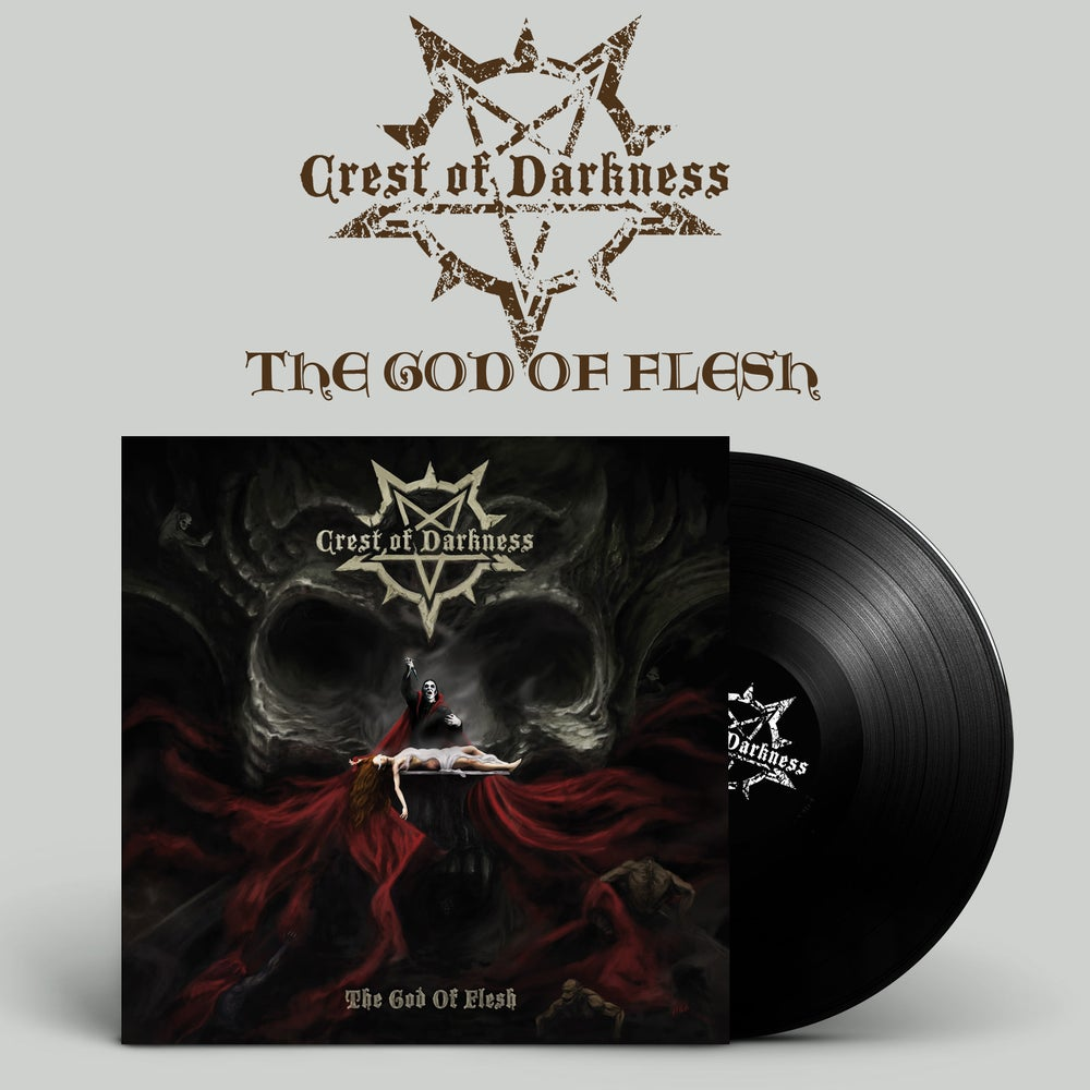 "Image of CREST OF DARKNESS ""The God Of Flesh"" LP"