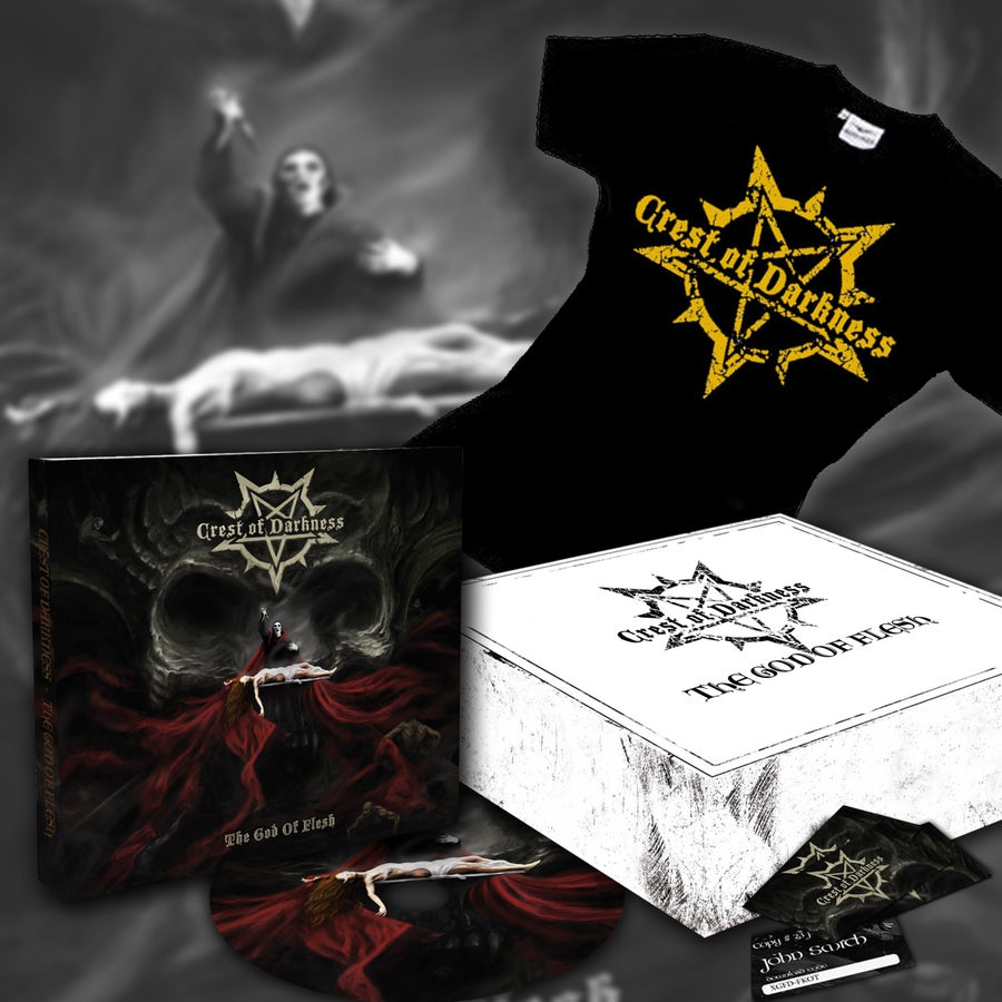 "Image of CREST OF DARKNESS ""The God Of Flesh"" DELUXE EDITION"