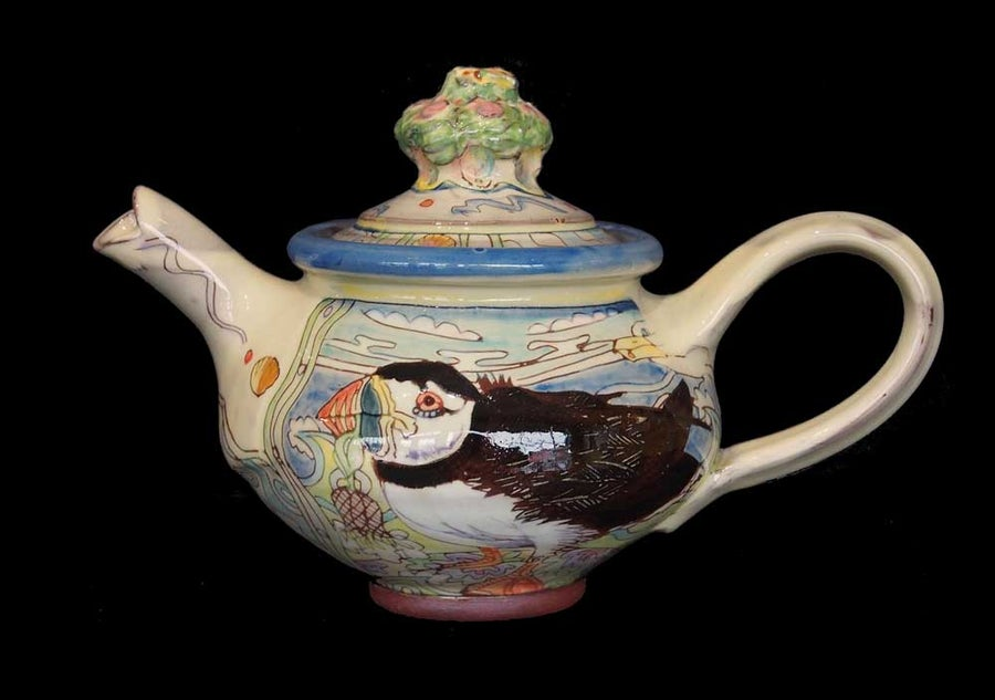 Image of Maureen Minchin Mackerel and Puffin Teapot