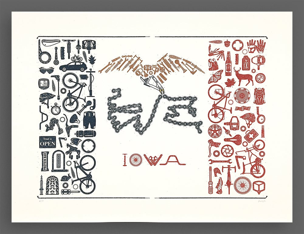 Image of Our Liberties We Prize and Our Bikes We Will Maintain Silkscreen Print