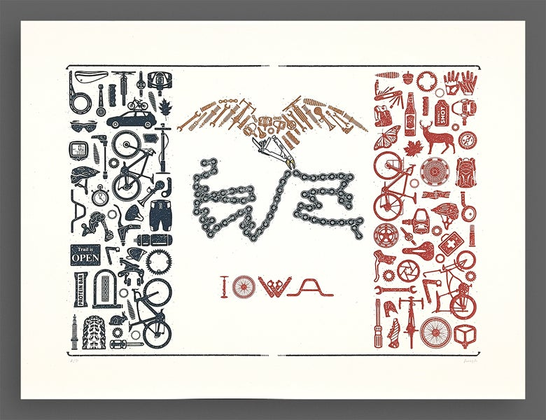 Image of Our Liberties We Prize and Our Bikes We Will Maintain · Silkscreen Print