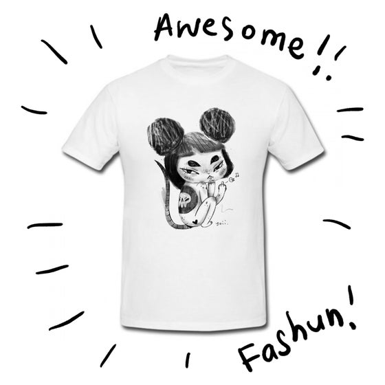 Image of Fk u Nezumi Mouse Girl White Tee