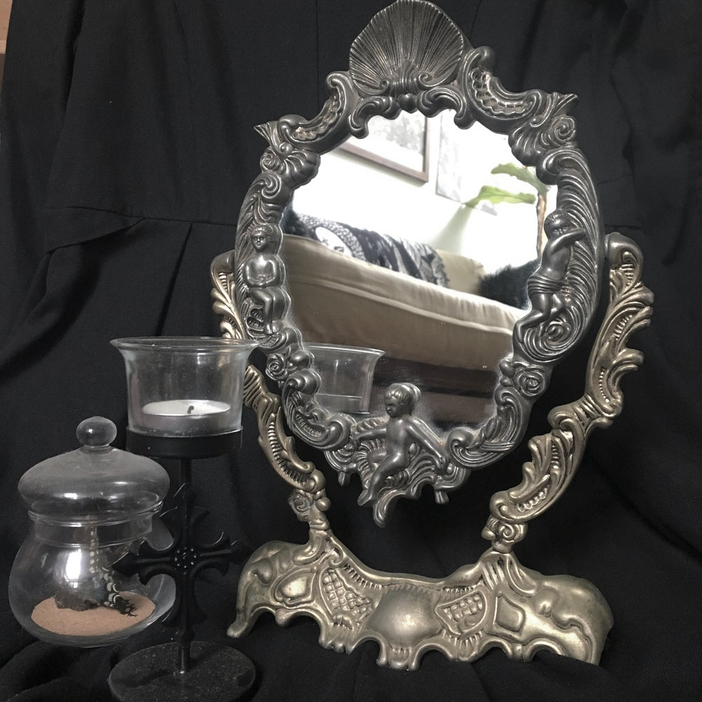 Image of Antique Art Noveau Mirror