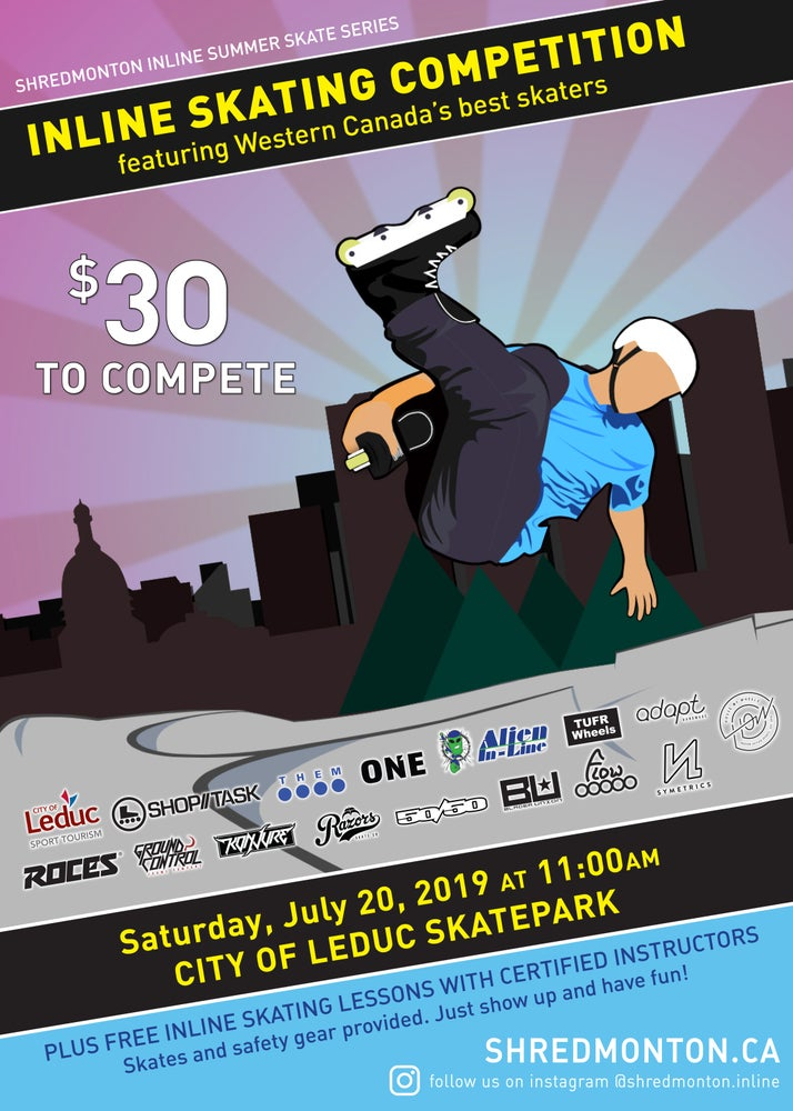 Image of Shredmonton Inline Summer Skate Series - Competitor Registration