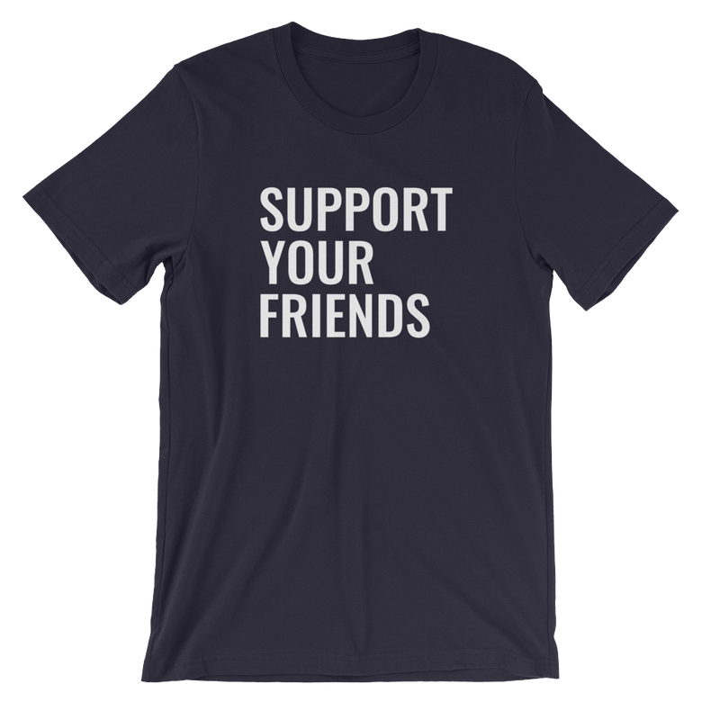 Image of Support Your Friends - Navy