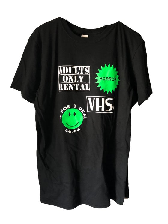 Image of Horror VHS 90s Video Store T-Shirt