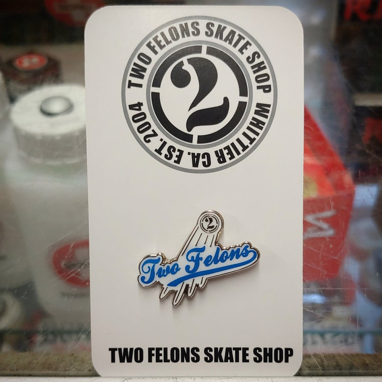"Image of Two Felons ""Play Ball"" pin"