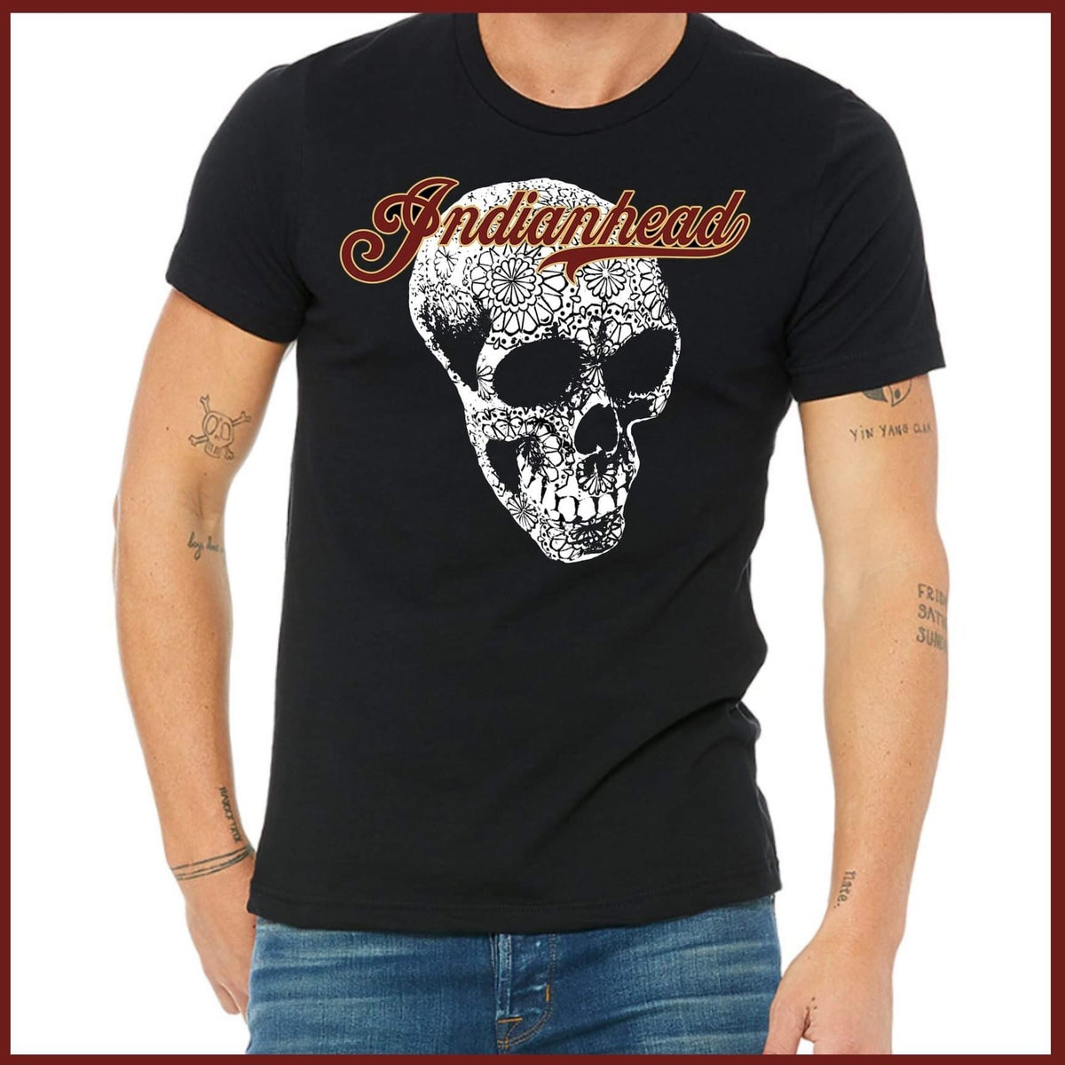 Image of Indianhead Black T shirt
