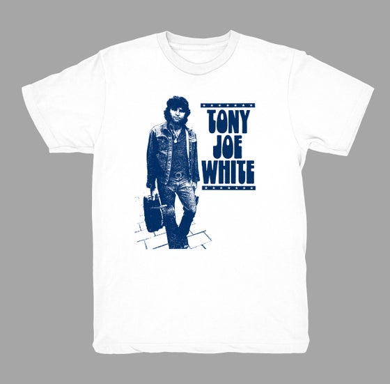 Image of TJW - Retro Walking T-Shirt (WHITE w/NAVY)