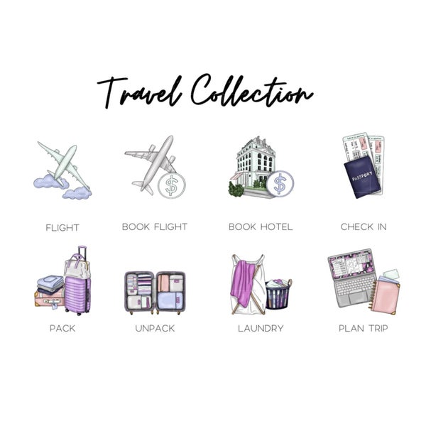 Image of Mini Travel Icons - Credit Card Sized