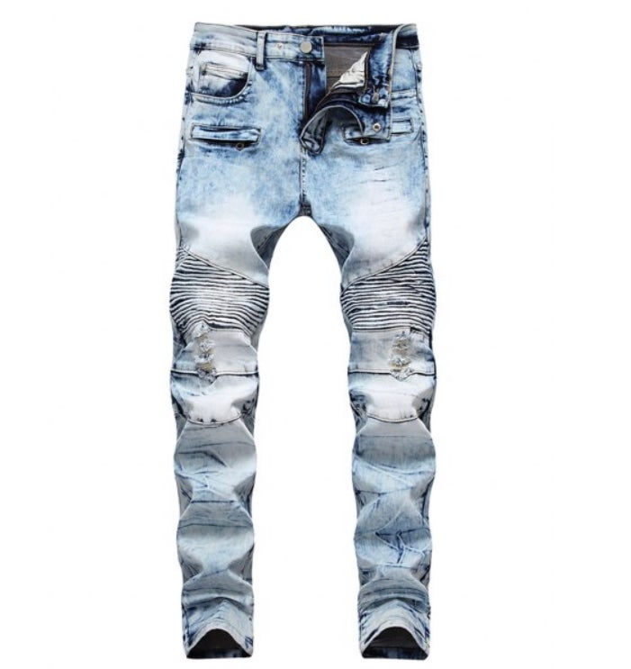 Image of Faded Distressed Denim