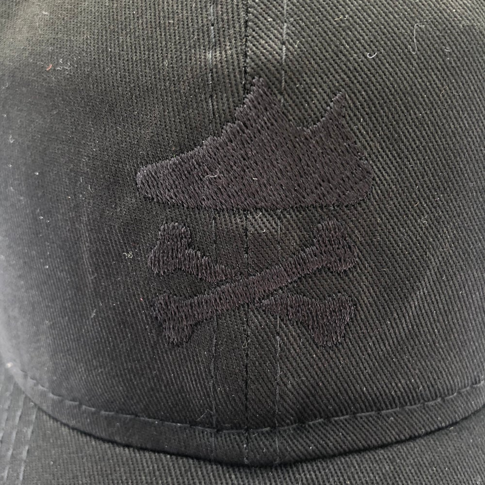 """YEEZY CROSSBONES EMBROIDERY """"BLACKOUT"""" DAD HAT"""