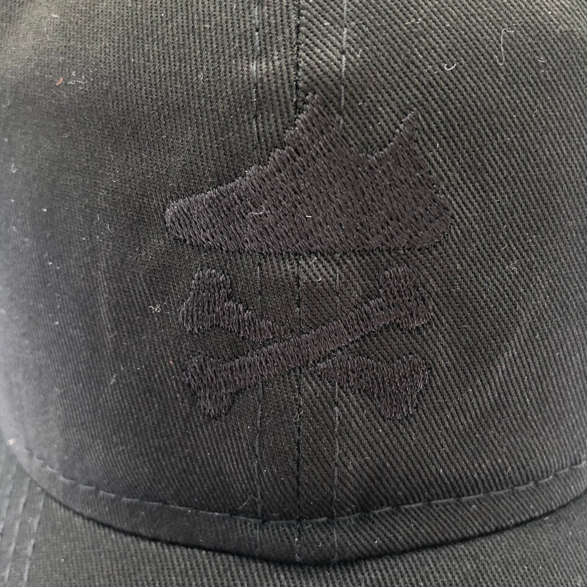 "Image of YEEZY CROSSBONES EMBROIDERY ""BLACKOUT"" DAD HAT"