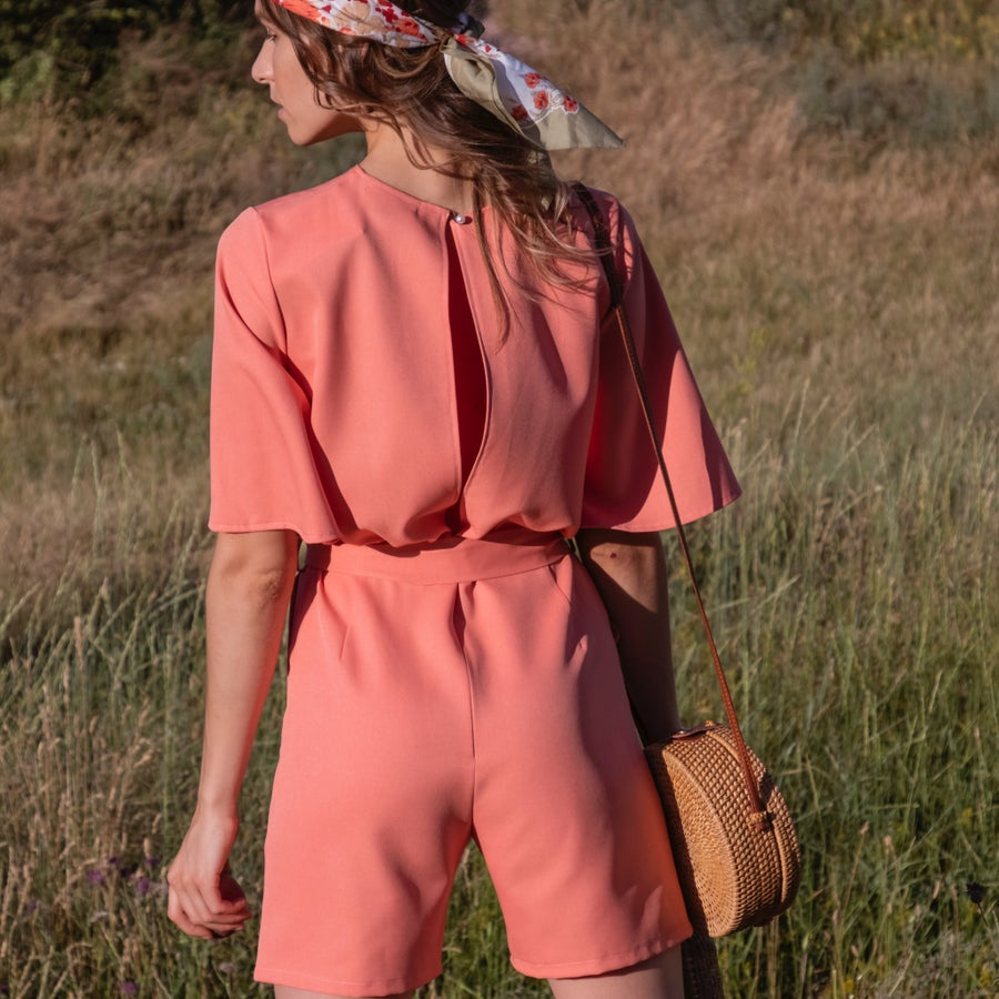 Image of Peach jumpsuit
