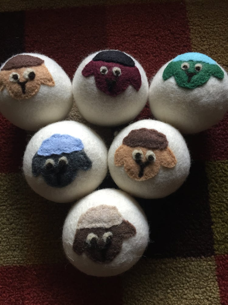 Image of Natural Wool Fiber Dryer Balls